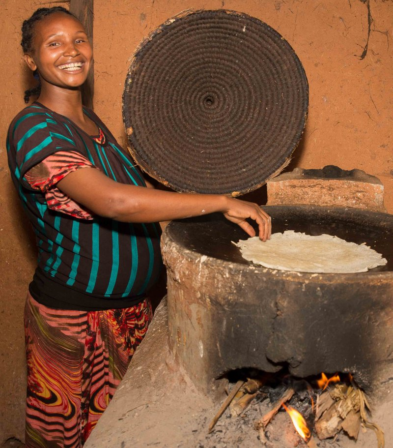 Mabraat uses cookstove in Ghimbi, Ethiopia