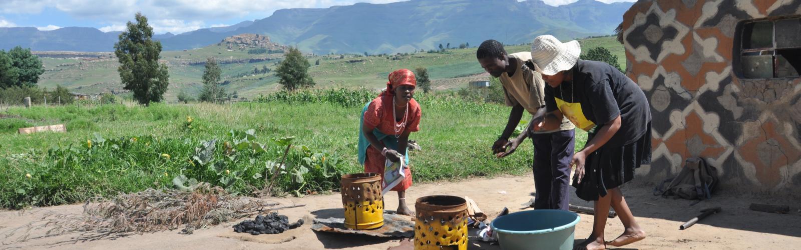 Basa Magogo koken in Zuid Afrika